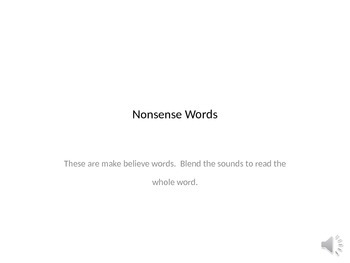 Nonsense Word Virtual Flashcards-whole word read