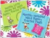 Nonsense Word, Letter Name and Sound Fluency Monthly Pract