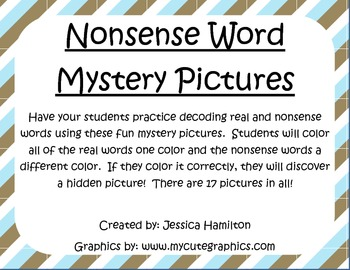 Nonsense Word Mystery Pictures