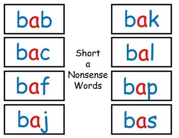 Nonsense Word (NWF) Games for RTI or Small Groups