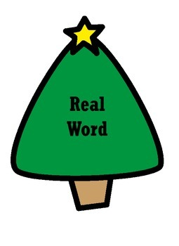Ornament Real Word/ Nonsense Word Sort