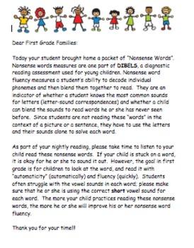Nonsense Word Parent Letter