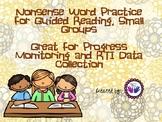 RTI: Nonsense Word Practice
