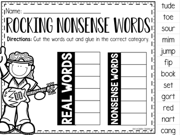 Nonsense Word Printables (8th Edition)