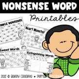 Nonsense Word Printables {DIBELS Intervention}