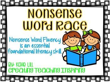 *Freebie* Nonsense Word Race for Fluency