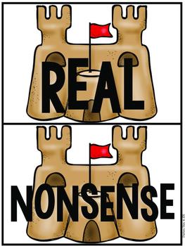 """Nonsense Word Sort (NWF) """"Fun in the Sun"""""""