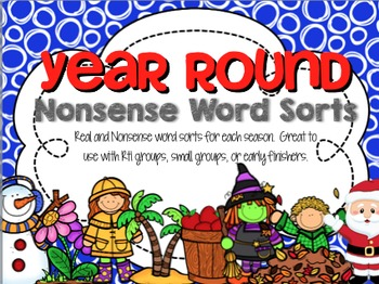 Nonsense Word Sorts ~ DIBELS Intervention