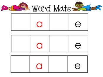 Short and Long Vowel Word Sorts for Literacy Centers