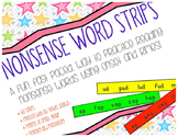 Nonsense Word Strips {A Nonsense Word Game}