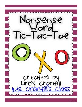 Nonsense Word Tic Tac Toe