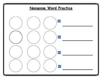 Nonsense Word Worksheet