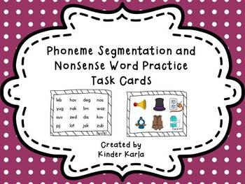 Nonsense Word and Phoneme Segmentation Task Cards