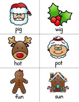 Christmas Nonsense Word Activity