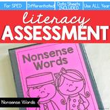 Nonsense Words Assessment - Literacy Reading Assessment