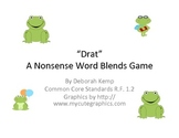 "Nonsense Words Blends Game-""Drat""-Common Core Aligned"