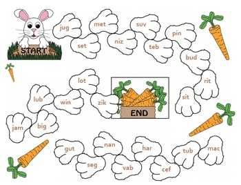 Nonsense Words Bunny Hop