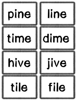 Nonsense Words, CVC, CVCE, Blends/Digraph card games