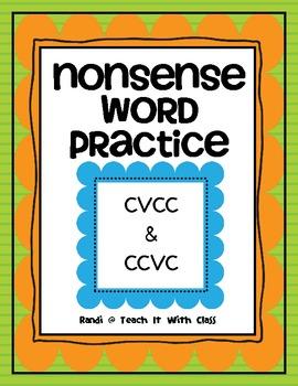 Nonsense Words (CVCC/CCVC)