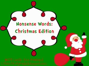 Nonsense Words: Christmas Edition