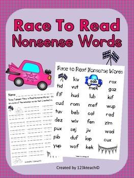 Nonsense Words Dibels Race to Read