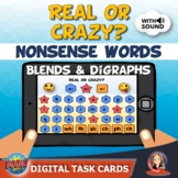 Nonsense Words Digital Boom Cards with Blends and Digraphs