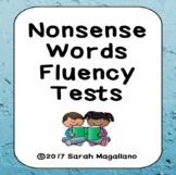 Nonsense Words Fluency Tests and Data Sheets