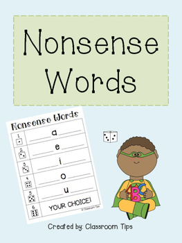 Nonsense Words - FREEBIE Game