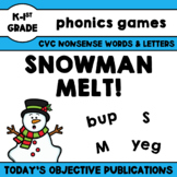 Nonsense Words Game - Snowman Melt