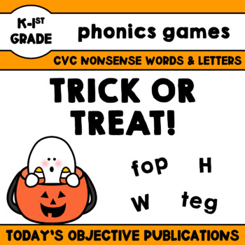 Nonsense Words Game - Trick or Treat