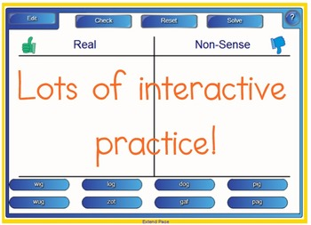 Nonsense Words Games for SMART Notebook