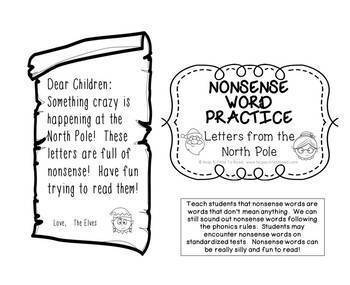 Nonsense Words  Letters from the North Pole