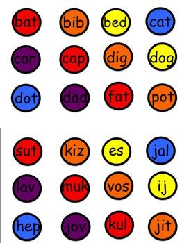 Nonsense Word Fluency  Monster Match