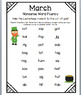 Nonsense Words - Monthly Practice Sheets - mClass / Dibels