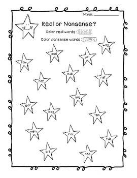 Nonsense Words Pack (RF.K.2, RF.1.2)