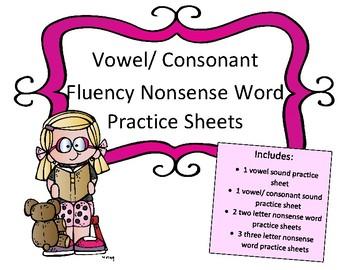Letter Sound/ Nonsense Words Practice Sheets: DIEBLES