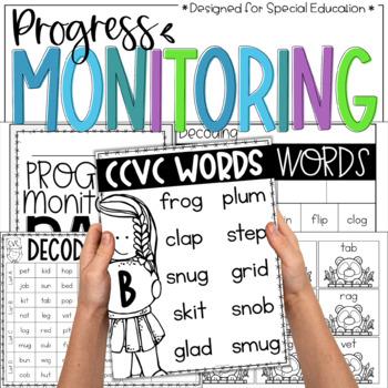 Nonsense Words Progress Monitoring Forms, Tracking Sheets, & Word Cards