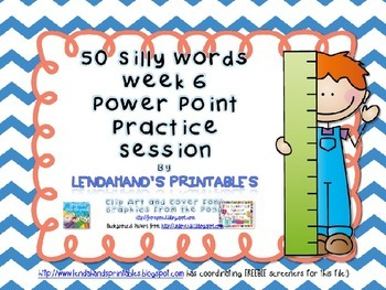 Nonsense Word Fluency Powerpoint by Powerpoint by Ms. Lendahand (Set 6)