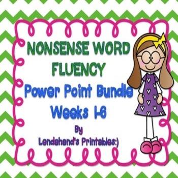 Nonsense Word Fluency Powerpoint Bundle by Ms. Lendahand (Sets 1-6)
