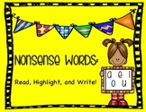 Nonsense Words: Short Vowels