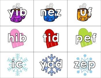 Nonsense Words Sort Brrr! - January