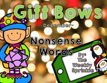 Nonsense Words Sort Gift Bows - December