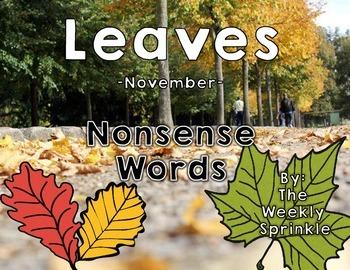 Nonsense Words Sort Leaves - November