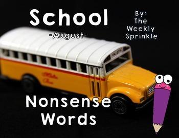 Nonsense Words Sort School - August
