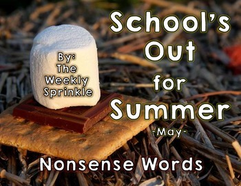 Nonsense Words Sort School's Out for Summer - May