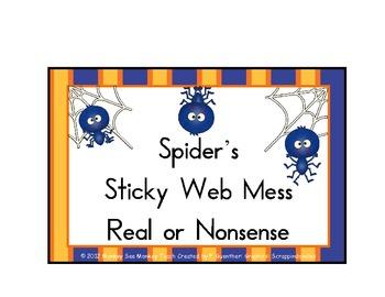 Nonsense Words Spider's Sticky Web Mess