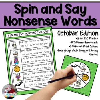 Nonsense Words Spin and Say- October Edition