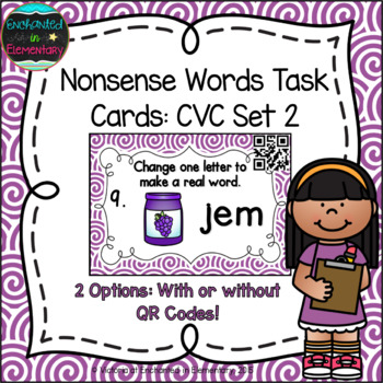 Nonsense Words Task Cards: CVC Set 2