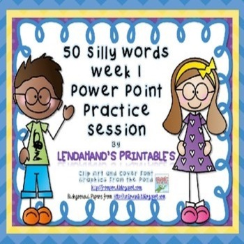 Nonsense Word Fluency Powerpoint by Ms. Lendahand (Set 1)