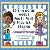 Nonsense Word Fluency Powerpoint by Ms. Lendahand (Set 1)